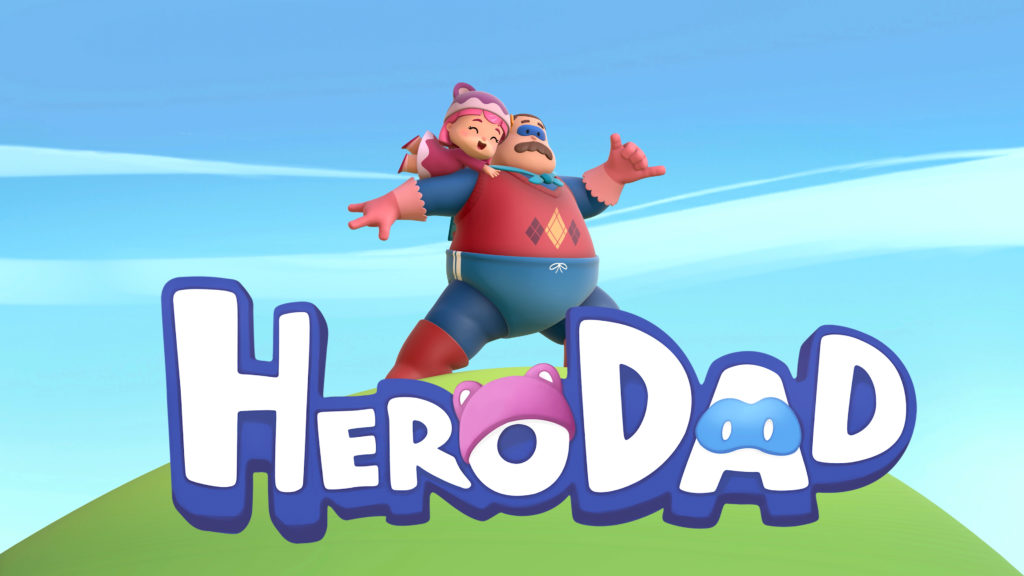 """Hero Dad"" main title."